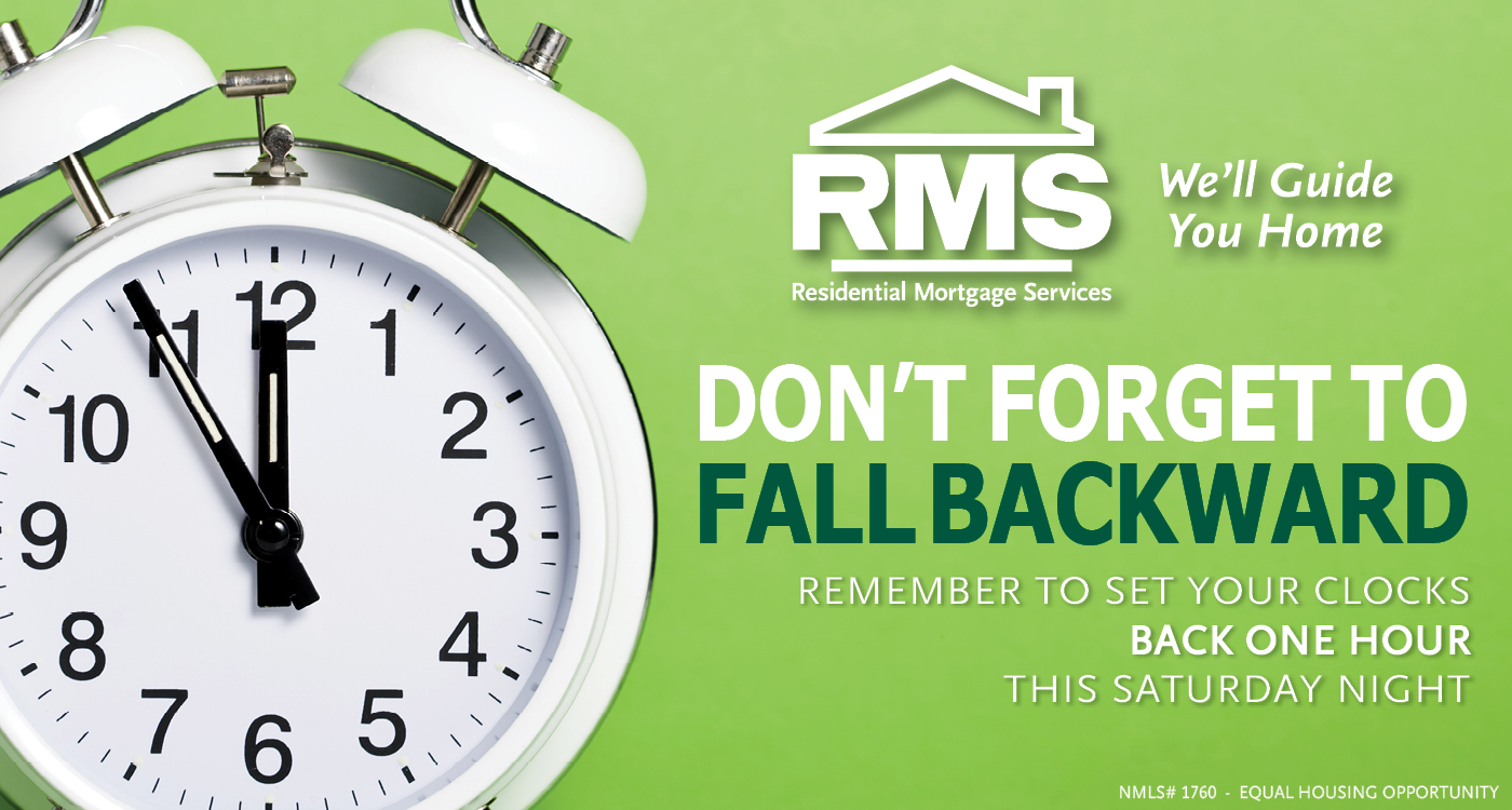 Remember to change your clocks back this weekend